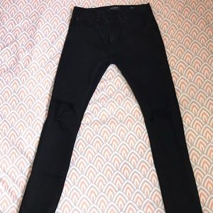 Black two knee hole Pacsun jeans.